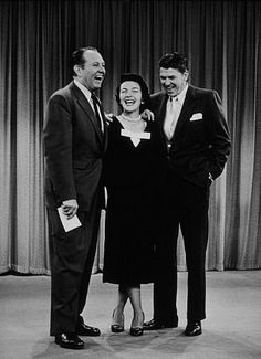 "Ronald Reagan and wife Nancy on Art Linkletter's ""House Party"" show C. 1953"