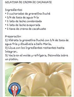Gelatina de crema de cacahuate