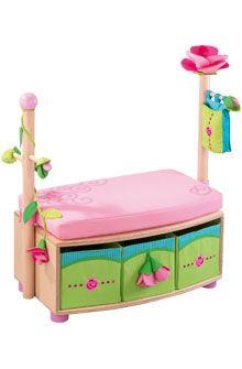 HABA - Erfinder für Kinder - Sitzgarderobe Rosenfee - Garderoben + Wandhaken - Kinderzimmer - Spielzeug & Möbel