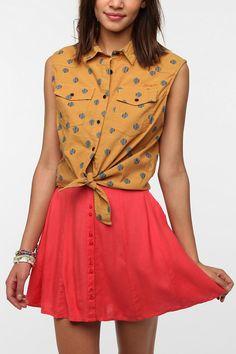 Insight Hokey Pokey Sleeveless Button-Down Shirt Online Only