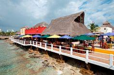 Had a drink at Fat Tuesday, Puerta Maya cruise port, Cozumel, Mexico