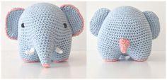 New Crochet Amigurumi Elephant Products Ideas Crochet Mandala Pattern, Crochet Flower Patterns, Crochet Animals, Crochet Toys, Baby Blanket Crochet, Crochet Baby, Crochet Scarf For Beginners, Crochet Elephant, Crochet For Kids