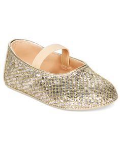 A touch of glam for baby girl, these Ivanka Trump metallic ballerina shoes feature an elastic strap for a comfy, secure fit. | Fabric upper; polyurethane leather sole | Spot clean | Imported | Elastic