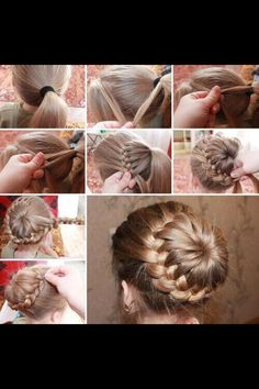 Plaited bun! Cute and easy hairstyle! Follow for more!!