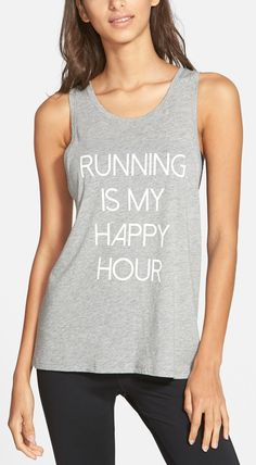 This sporty cotton-blend tank is super comfortable and has a clever sense of humor.
