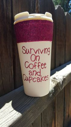 Check out this item in my Etsy shop https://www.etsy.com/listing/449271662/travel-mug-glitter-dipped-mug-cupcake