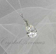 Crystal Bridal Earrings Crystal Wedding earrings door CrystalAvenues