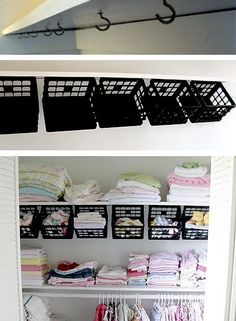 Some dollar store plastic mini-crates, some hooks under the top shelf http://www.onegoodthingbyjillee.com/2014/02/frugal-friday-diy-organization-ideas.html?utm_content=buffer47d89&utm_medium=social&utm_source=pinterest.com&utm_campaign=buffer