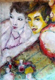 "Saatchi Art Artist MP XQS-I; Painting, ""Mirroring"" #art"