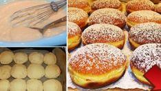 Lahodné domácí koblížky z trouby posypané vanilkovým cukrem – hotovo máte za 30 minut! | Milujeme recepty Hamburger, Bread, Vegan, Baking, Food, Sweet, Basket, Candy, Brot