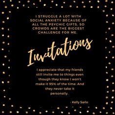 My Struggle, Social Anxiety, Make Time, My Friend, Appreciation, Thankful, Invitations, Save The Date Invitations, Shower Invitation