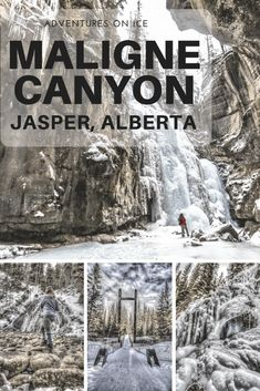 Hiking the Maligne Canyon in the winter, Jasper National Park, Canada. Canadian Travel, Canadian Rockies, Yoho National Park, National Parks, Places To Travel, Places To See, Travel Destinations, Alberta Travel, Rv Parks And Campgrounds