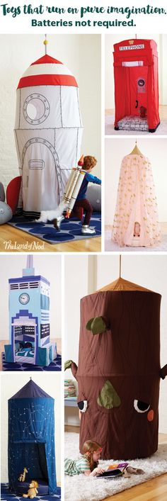 So need the telephone box! Create a playspace anyplace with a teepee, hanging canopy or playhouse. By choosing a playhouse that's both functional and chic, you can add interest to your living space, while also keeping the little ones busy. Activities For Kids, Crafts For Kids, Baby Kids, Baby Boy, Looks Cool, Play Houses, Future Baby, Kids Bedroom, Canopy Bedroom