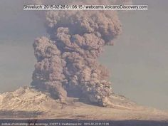 The Big Wobble: Shiveluch volcano Kamchatka Russia is in an intens... Shiveluch volcano Kamchatka Russia [Europe] The volcano is in an intense phase of activity, characterized by strong explosions and partial collapses of the growing lava dome accompanied by tall ash plumes and pyroclastic flows.
