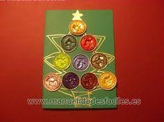 Tarjetas de navidad para niños 2012 : felicitaciones navideñas recicladas con capsulas nespresso, realizar tarjetas navideñas con material reciclado para niños