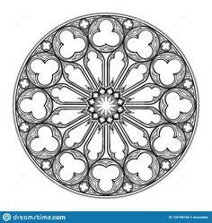 Gothic Rose Window. Popular Architectural Motiff In Medieval ...