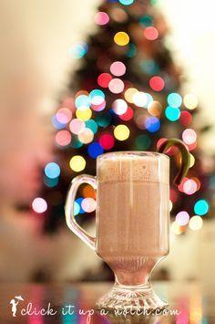 christmas tree light bokeh