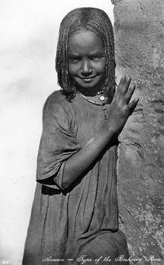 Africa: Beja girl, Sudan.The Beja people are believed to have originally been a berber tribe and are genetically linked to Tuaregs and other amazigh tribes.
