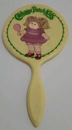 VINTAGE 1984 CABBAGE PATCH KIDS HAND MIRROR MADE IN HONG KONG/TOY #Mirror