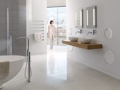 VOLA Round Series waste bin distributed exclusively in North America by Hastings Tile & Bath