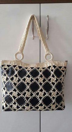 Free Crochet Bag, Cotton Bag, Cloth Bags, Michael Kors Jet Set, Diy And Crafts, Shoulder Bag, Tote Bag, Handbags, Handmade Purses