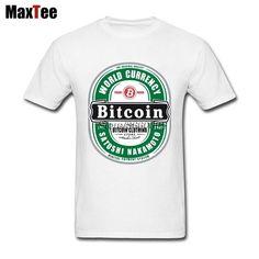 bd434bc4 Bitcoin Bear Label T-shirt Men Male Family White Short Sleeve Custom XXXL  Party T Shirts / Custom