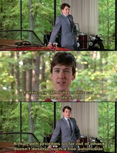 Ferris Bueller's Day Off. Ferris and Cameron. 80s Movies, Iconic Movies, Great Movies, Indie Movies, Action Movies, Day Off Quotes, Tv Quotes, Love Movie, Movie Tv