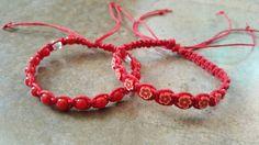 Check out this item in my Etsy shop https://www.etsy.com/listing/508169281/hemp-bracelet-set-red-bracelets