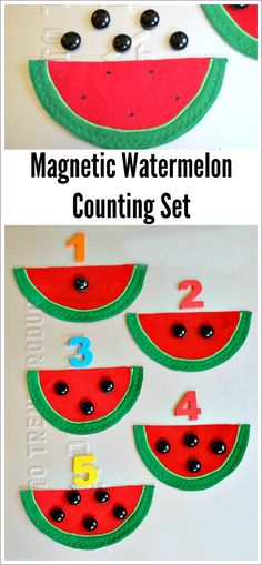 watermelon number game - going to use felt instead of magnets