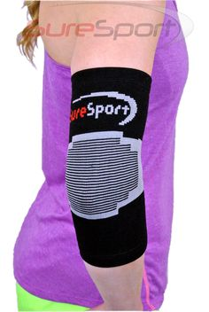 The SureSport® Theraputic Infrared Elbow Sleeve is designed to soothe your painful, aching elbow with FAR infrared technology. The FAR infrared support helps relieve pain by retaining body heat and emitting safe FAR infrared rays that penetrate deep into the joint and surrounding tissues of the elbow to help increase bloodflow which will in turn, reduce inflammation, decrease pain and speed the healing process.
