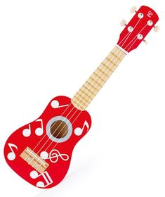 Hape Red Ukulele — The Toybox NZ Ltd Hape Toys, Red Play, Pan Flute, Wooden Playset, Mighty Ape, Beach Toys, Played Yourself, Toy Boxes, Ukulele