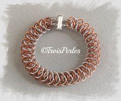 17  Chain Maille Armband  Chainmaille Bracelet von TroisPerles