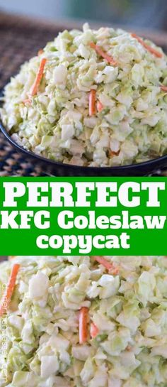 kfc coleslaw recipe without buttermilk ; kfc coleslaw recipe the originals ; kfc coleslaw recipe with miracle whip ; Slaw Recipes, Cabbage Recipes, Healthy Recipes, Copycat Recipes Kfc, Coctails Recipes, Restaurant Copycat Recipes, Chicken Recipes, Juice Recipes, Popular Recipes