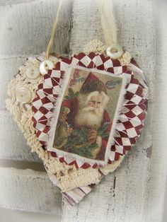 Handmade Christmas  Ornament * Old World Santa