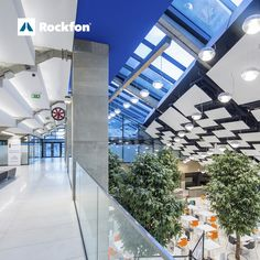 Swimming pools are humid areas where it demands products that can withstand high temperatures as well as good sound-absorption to the massive noise level. Whether it is the pool area or the surroundings, create the perfect acoustic environments with Rockfon. With the largest selection of edge styles and sizes, Rockfon® Sonar™ ceiling panels offer optimal design freedom while maximizing performance and occupant well-being. #SoundsBeautiful #Rockfon #leisure #swimmingpools #designinspiration Ceiling Design, Wall Design, Sound Absorption, Noise Levels, Ceiling Panels, Ceiling Height, Visual Comfort, Sound Waves, Acoustic