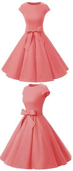 Vintage-dresses, Pink dress, elegant dress, more dresses at dressystar.com