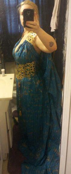 Completed Daenerys Targaryen Qarth gown.