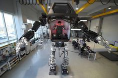 Testing a four-meter-tall manned robot in South Korea  #robots #robot #technology #tech #ai #artificial #southkorea #testing
