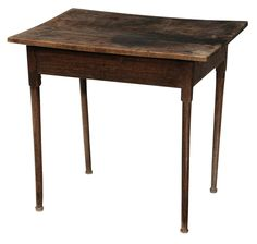 Rare Southern Queen Anne Walnut Tea Table Attributed To Chowan County, North  Carolina, 1730