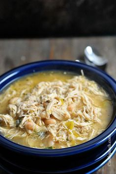 Crockpot white chicken chili is the easiest way to make chili, because the slow cooker does the cooking. This white chicken chili is healthy comfort food and one of the best crock pot recipes for a chili recipe contest! Crock Pot Recipes, Slow Cooker Recipes, New Recipes, Soup Recipes, Chicken Recipes, Cooking Recipes, Favorite Recipes, Healthy Recipes, Healthy Soup