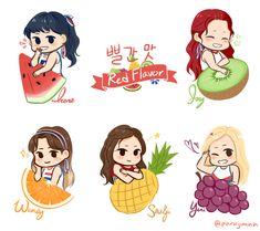 Seulgi, Character Art, Character Design, Kpop Posters, Nct, Cute Love Gif, Drawing Wallpaper, Wendy Red Velvet, Kpop Fanart