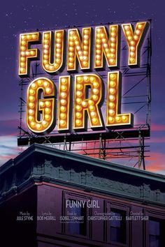"""#Broadway poster: """"Funny Girl"""" Broadway Revival temporary poster"""
