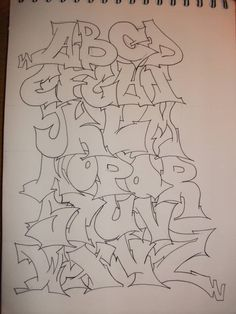 Graffiti Alphabet Outline by replicamask on DeviantArt Cool Graffiti Letters, Graffiti Alphabet Styles, Graffiti Lettering, Cute Canvas Paintings, Diy Canvas Art, Graffiti Drawing, Graffiti Art, Art Drawings Sketches Simple, Psychedelic Art