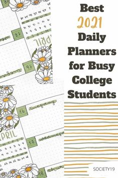 Best 2021 Daily Planners For Busy College Students