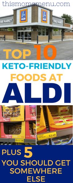 ALDI Low Carb Shopping List + Video Grocery Haul   Low ...