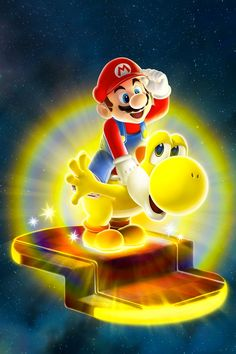 Mario and Bulb Yoshi - Super Mario Galaxy 2