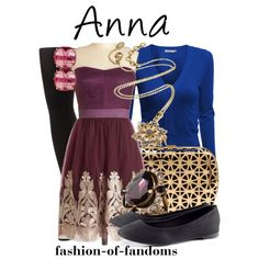 """Anna (Frozen)"" by fofandoms on Polyvore"