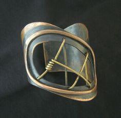 Modernist / Studio Artist / Designer Signed Vintage Jewelry