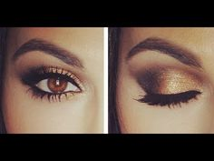 GOLD SMOKY EYE TUTORIAL - YouTube