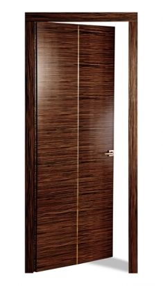 The shape is greatly enhanced by the horizontal characteristic of the wood grain configuration. Door model GÉODE Makassar Collection | Haute Couture